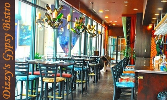 Dizzy's Gypsy Bistro - Downtown: $10 for $20 Worth of Internationally Inspired Cuisine at Dizzy's Gypsy Bistro
