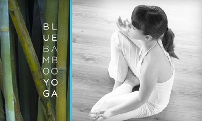 Blue Bamboo Yoga - Multiple Locations: $30 for 30 Days of Unlimited Yoga at Blue Bamboo Yoga ($125 Value)