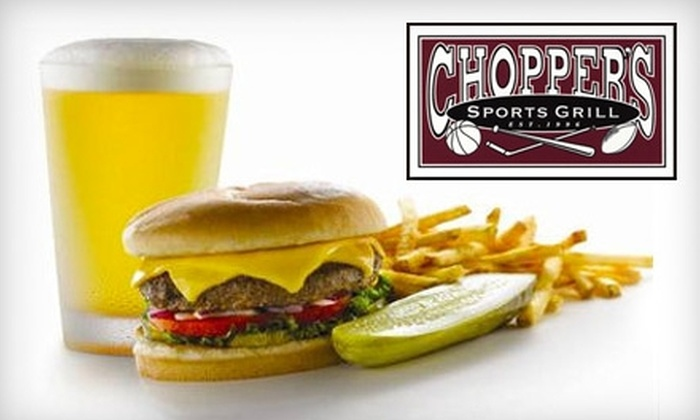 Chopper's Sports Grill - Cherry Creek: $10 for $20 Worth of Gourmet Pub Fare and Drinks at Chopper's Sports Grill