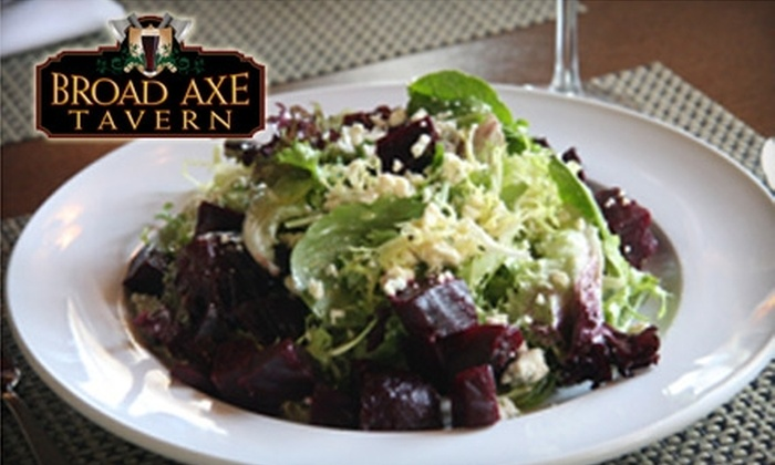 The Broad Axe Tavern - Ambler: $15 for $30 of Pub Fare and Spirits at the Broad Axe Tavern in Ambler