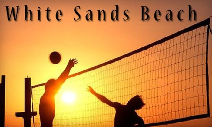 White Sands Beach Facility - Hillsboro: Drop-in Volleyball Games or League Play at White Sands Indoor Beach in Hillsboro. Choose Between Two Options.