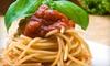 *OOB* Bourbon Street Grille - Monona: Spaghetti-Board Meal for 4, 8, or 12 at Bourbon Street Grille in Monona (Up to 62% Off)