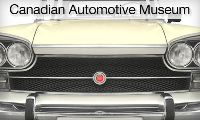 Canadian Automotive Museum - Downtown Oshawa: $5 for Two Admissions to Canadian Automotive Museum ($10 Value)