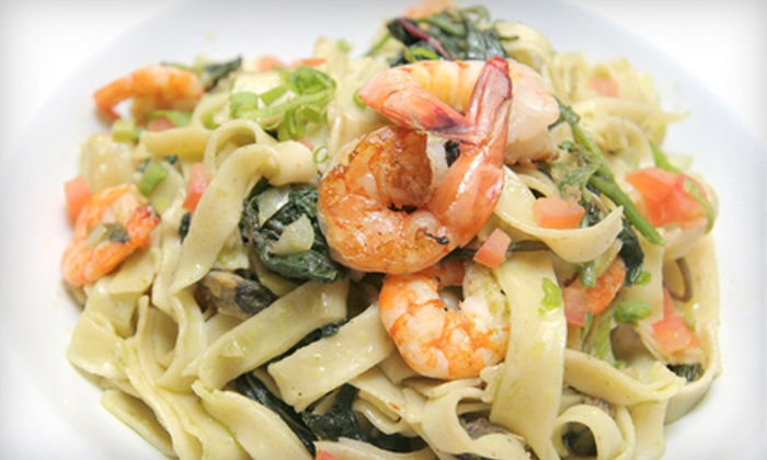 Basil & Thyme Italian Bistro - Newark: $28 for a Three-Course Italian Dinner for Two at Basil & Thyme Italian Bistro in Newark (Up to $57 Value)