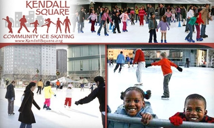 Kendall Square Ice Skating Rink - Kendall Square: $10 for Two Day Passes and Two Skate Rentals at Kendall Square Community Ice Skating Rink