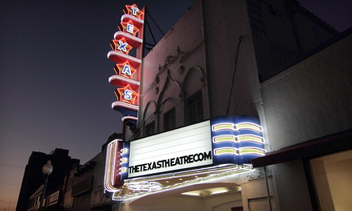 The Texas Theatre - Wynnewood North: Movie Night with Popcorn for One or Two at The Texas Theatre
