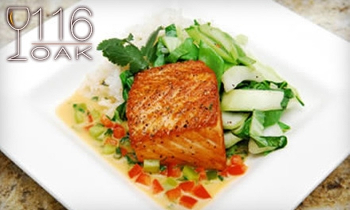 116 Oak - Elon: $12 for $25 Worth of Upscale American Cuisine and Drinks at 116 Oak