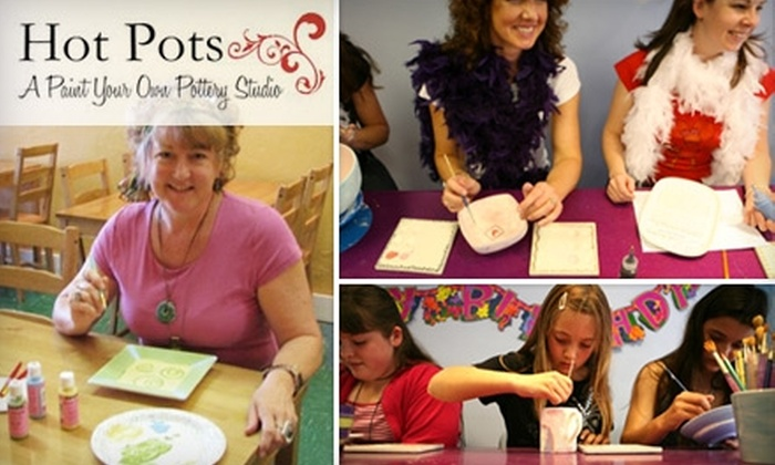 Hot Pots - Sanford: $11 for $25 Worth of Paint-Your-Own Pottery Pieces at Hot Pots in Sanford