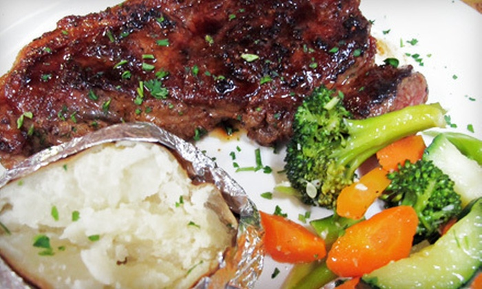 The Steak House - Bullard: Steaks and American Fare for Dinner or Lunch at The Steak House (Half Off)