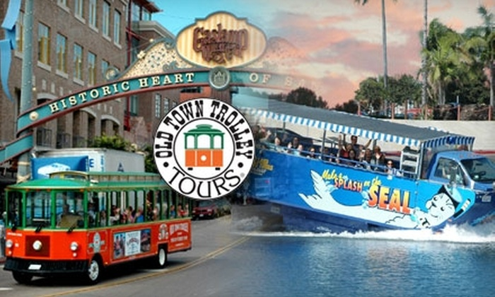 Old Town Trolley Tours of San Diego - Old Town: $27 for the Old Town Trolley Tour and Seal Tour from Old Town Trolley Tours of San Diego ($54 Value)