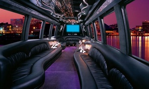 The Mix Master: Four Hours of Limo Service in Chrysler 300, Stretch Hummer or Escalade, or Limo Bus from The Mix Master (Up to 58% Off)