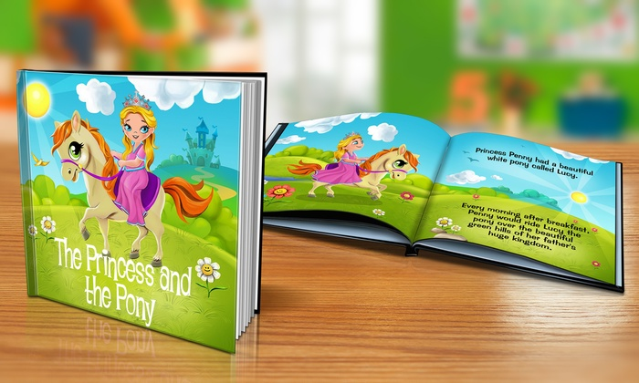 "Dinkleboo: $9 or $14 for Softcover or Hardcover ""The Princess and the Pony"" Personalized Kids Book from Dinkleboo (Up to 65% Off)"