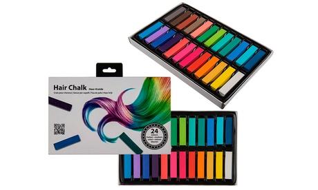 1, 2 o 3 cajas de 24 tizas de colores para teñir el pelo temporalmente