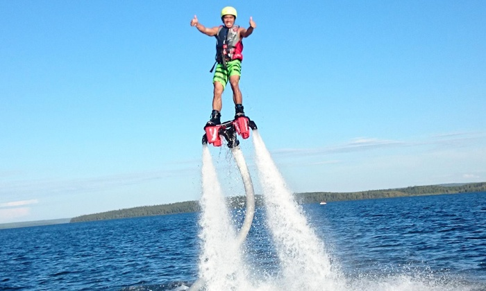 Alberta Flyboard Inc. - Multiple Locations: Flyboarding Sessions for One or Three at Alberta Flyboard Inc. (Up to 36% Off)