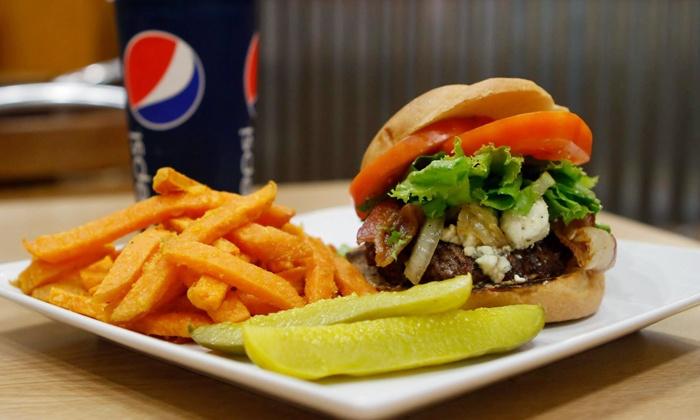 Honolulu Burger Co. - Makiki - Lower Punchbowl - Tantalu: $8 for $16 Worth of Burgers at Honolulu Burger Co. on Beretania Street