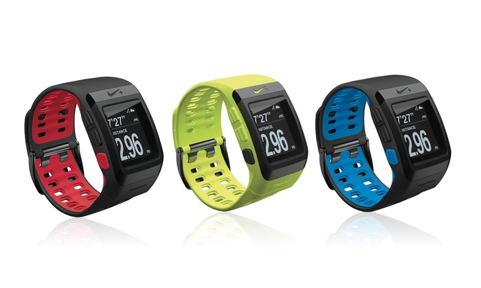 montre nike sportwatch gps tomtom groupon. Black Bedroom Furniture Sets. Home Design Ideas