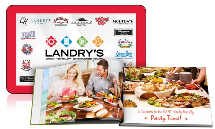 "Landry's and Printerpix: One $50 Landry's Restaurant eGift Card and One 8""x6"" Custom Photo Book from Printerpix ($74.99 Value)"