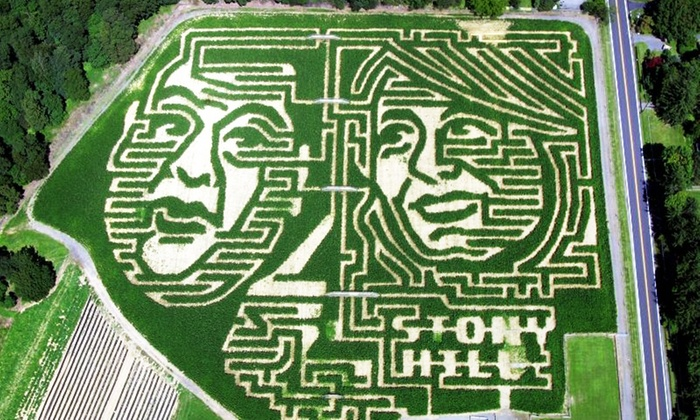 Stony Hill Farms - Stony Hill Farms: Weekend Corn Maze, Hayride, and Snacks for Two, Four, or Six, or Weekend Corn-Maze Visit for Two at Stony Hill Farms (Up to 56% Off)