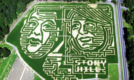 Weekend Corn Maze, Hayride, and Snacks for Two, Four, or Six, or Weekend Corn-Maze Visit for Two at Stony Hill Farms (Up to 56% Off)