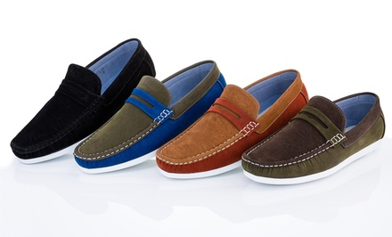 Franco Vanucci Lenny Casual Loafers in Black, Brown, Olive Blue, or Tan. Free Returns.