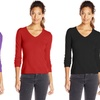 Plus-Size Women's Long-Sleeved Cotton Tees (6-Pack)