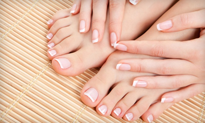 Angel Tips - Oceanside: $35 for Manicure and Deluxe Pedicure Package at Angel Tips in Oceanside ($78 Value)