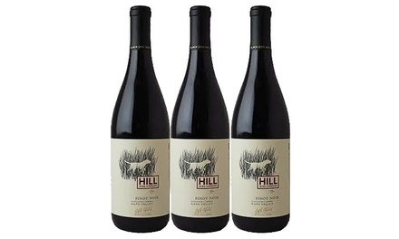 $45 for Three Bottles of Hill Pinot Noir With Shipping Included from Splash Wines ($90.95 Value)