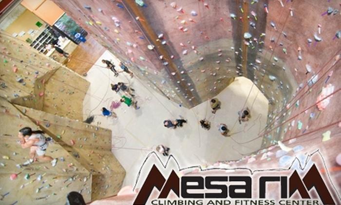 Mesa Rim Climbing and Fitness Center - Mira Mesa: $15 for a Beginning Rock-Climbing Class and Day Pass at Mesa Rim Climbing and Fitness Center ($30 Value)