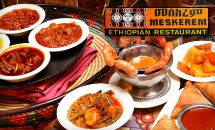 $25 Groupon to Meskerem Ethiopian - Meskerem Ethiopian Restaurant in Washington