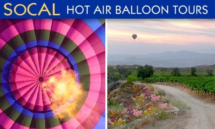 SoCal Hot Air Balloon Tours - Murrieta: Hot Air Balloon Flights with SoCal Hot Air Balloon Tours. Two Tour Options Available.