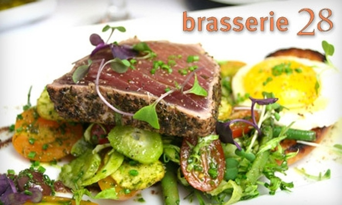 Brasserie 28 - Andover: $20 for $40 Worth of Upscale Cuisine at Brasserie 28 in Andover