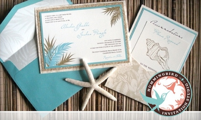 Hummingbird Invitation Studio: $49 for $140 Worth of Custom Invitations, Announcements, and Accessories from Hummingbird Invitation Studio