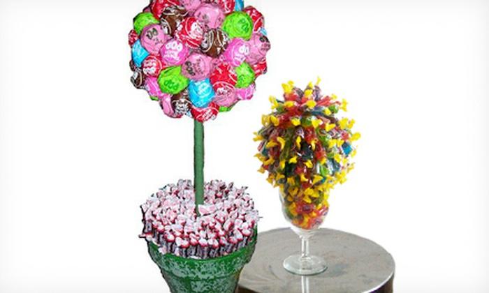 Candylicious Arrangements - Pikesville: Custom Candy Arrangement or Tootsie Pop Topiary Candy Arrangement from Candylicious Arrangements (60% Off)