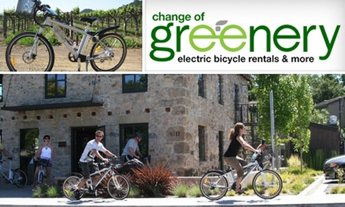 Change of Greenery - Multiple Locations: $37 for an Electric-Bike Rental from Change of Greenery