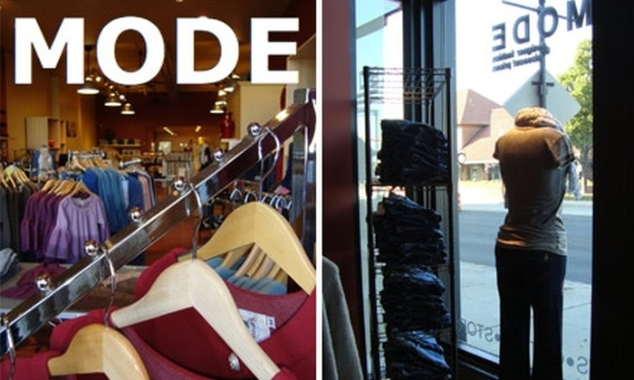 MODE - Multiple Locations: $50 for $100 Worth of Designer Apparel, Accessories, and Beauty Products at MODE