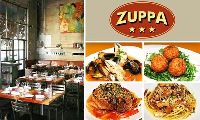 Zuppa - Mission Bay: $15 for $35 Worth of Italian Food and Drink at Zuppa