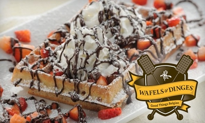 Wafels & Dinges - Multiple Locations: $4 for a Verdekke Ice-Cream Wafel-Wich or Double Dinges Ice-Cream Cone and Drink at Wafels & Dinges (Up to $8 Value)