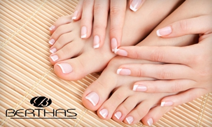 Berthas European Spa - Westchester County: $40 for a Chocolate Spa Manicure and Spa Pedicure at Berthas European Spa