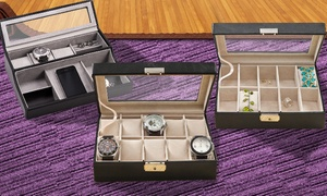 Monogram Online: $39.99 for a Personalized Men's Watch Case or Women's Jewelry Box from Monogram Online ($88.99 Value)