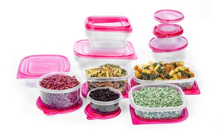 34-Piece Nesting Plastic Storage Container Set