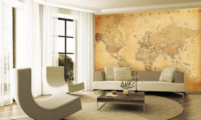 Déco Murale Carte Du Monde Groupon Shopping