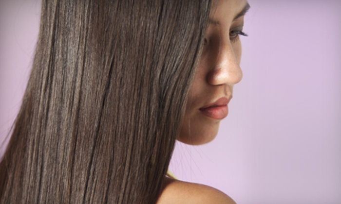 Cactus Salon & Spa - Multiple Locations: Blowout and Options for Haircut or Keratin Color-Lock Smoothing Treatment at Cactus Salon & Spa (Up to 76% Off)
