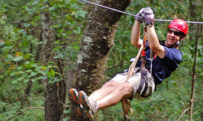 ZipQuest - Fayetteville: Zipline Canopy Tour or Team-Building Exercise with Zipline Canopy Tour at ZipQuest (Half Off)