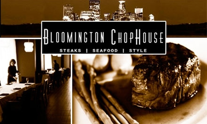 Bloomington ChopHouse - West Bloomington: $25 for $60 Worth of Food and Drink at Bloomington ChopHouse