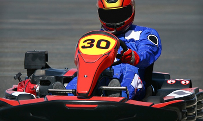 Allsports Grand Prix - Dulles Town Center: $30 for Three Arrive-and-Drive Kart Races at Allsports Grand Prix in Dulles ($61.50 Value)