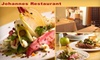 Johannes Restaurant - Downtown Palm Springs: $20 for $40 Worth of Sustainable Fare and Drinks at Johannes Restaurant