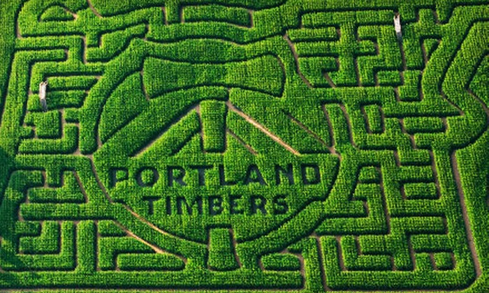 Portland Timbers Maize - Portland: $7 for Outing for Two to Portland Timbers Maize at The Pumpkin Patch (Up to $14 Value)