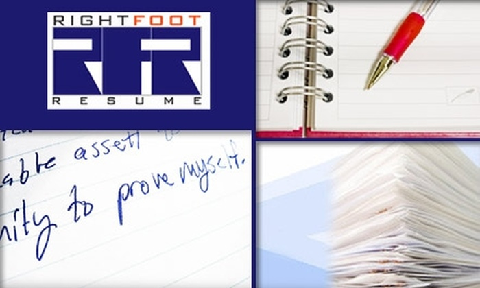 $65 for a Complete Resume Package at Right Foot Resume ($130 Value ...