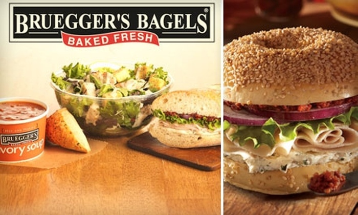 Bruegger's Bagels - Multiple Locations: $5 for $10 Worth of Bagels, Sandwiches, Coffee, and More at Bruegger's Bagels