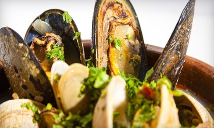 The Landing Restaurant - Kennebunkport: $10 for $20 Worth of Seafood and Drinks at The Landing Restaurant